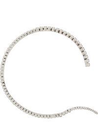 Swarovski Ryan Storer Unfinished Line Rhodium Plated Crystal Choker