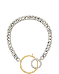 MM6 MAISON MARGIELA Silver And Gold Mixed Chunky Necklace