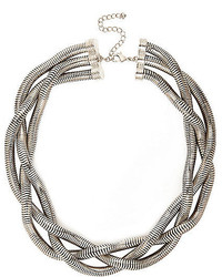 River Island Silver Tone Chunky Twisted Necklace