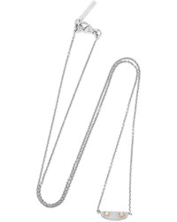 Balenciaga Silver Tone Necklace One Size