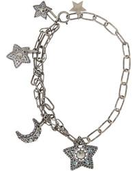 Lanvin Silver Tone Swarovski Crystal Necklace