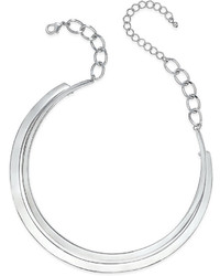 Thalia Sodi Silver Tone Two Layer Collar Necklace Only At Macys