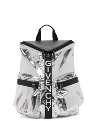 Givenchy Silver Nylon Metallized Spectre Backpack