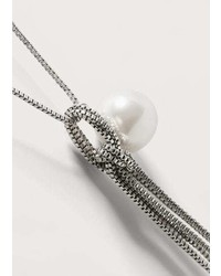 Violeta BY MANGO Pearl Pendant Necklace