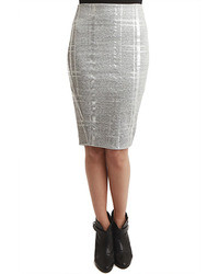 Silver pencil skirt original 2098635