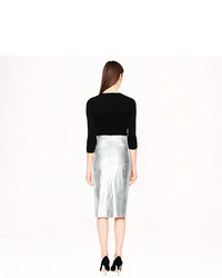 eec1a3466c7 ... J.Crew Collection Metallic Leather Pencil Skirt ...