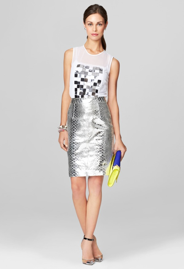 Milly Mirrored Python Pencil Skirt | Where to buy & how to wear