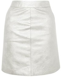Topshop Pu Pencil Mini Skirt