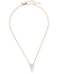 Alexis Bittar Faceted Pyramid Pendant Necklace