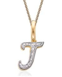 Monica Vinader Alphabet Diamond Pave Pendant