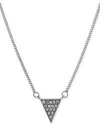 BCBGeneration Silver Tone Pave Triangle Pendant Necklace