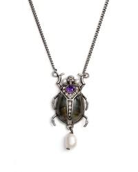 Alexander McQueen Beetle Pendant Necklace