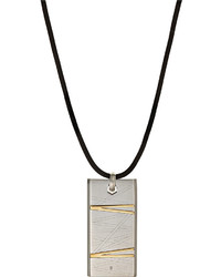 Bliss By Damiani Stainless Steel Flash Pendant Necklace W Diamond