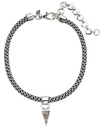 Rebecca Minkoff Climbing Rope Choker Necklace With Charm Drop Necklace