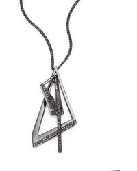 Alexis Bittar Crystal Encrusted Origami Pendant Necklace