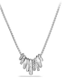 David Yurman Stax Small Multi Pendant Necklace With Diamonds
