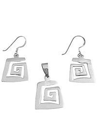 FashionJewelryForEveryone Sterling Silver Pendant Earrings Set Affordable Under 10 Pendant