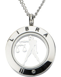 jcpenney Fine Jewelry Libra Zodiac Cubic Zirconia Stainless Steel Pendant Necklace