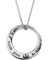 Fine Jewelry Star Wars Stainless Steel Mobius Circle Pendant Necklace