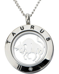 jcpenney Fine Jewelry Taurus Zodiac Cubic Zirconia Stainless Steel Locket Pendant Necklace