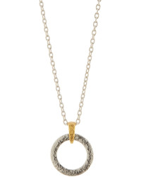 Gurhan Hoopla Small Tapered Hoop Ring Pendant Necklace
