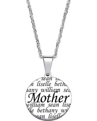 jcpenney Fine Jewelry Personalized Stainless Steel Mother Circle Pendant Necklace