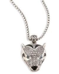 John Hardy Legends Diamond Silver Jaguar Pendant Necklace