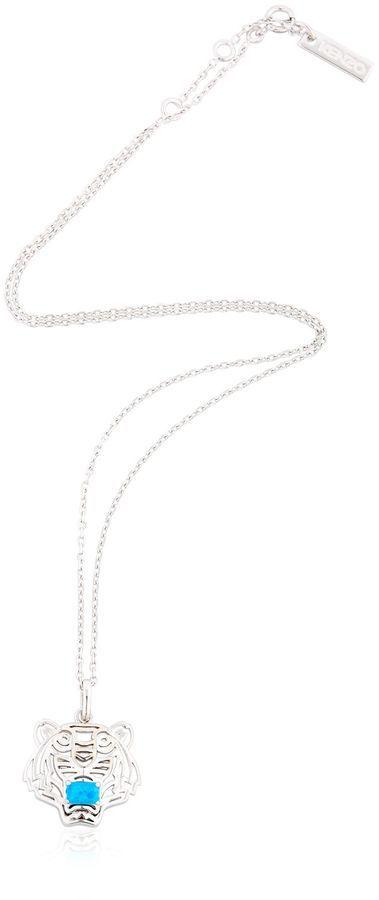 Kenzo Tiger Logo Pendant Necklace