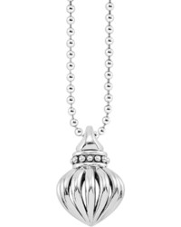 Lagos Fluted Pendant Necklace 34l