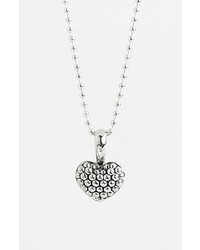 Lagos Sterling Silver Heart Long Strand Pendant Necklace