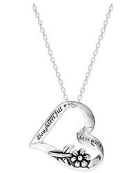 Macy's Inspirational Sterling Silver Daughters Heart Pendant Necklace