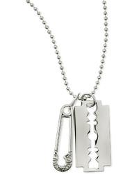 McQ by Alexander McQueen Mcq Alexander Mcqueen Razor Pendant Necklace Silvertone