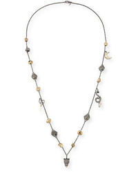 Alexis Bittar Mixed Crystal Charm Necklace 38