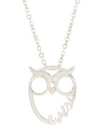 Nadri Wise Owl Pendant Necklace