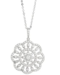 Nina Openwork Sunburst Pendant Necklace