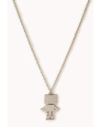 Forever 21 Quirky Robot Pendant Necklace