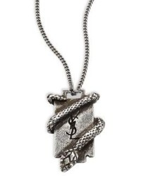 Saint Laurent Razor Blade Pendant Necklace