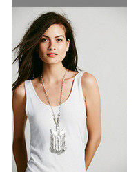 Free People Silver Shield Statet Pendant