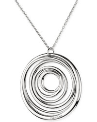 Calvin Klein Stainless Steel Polished Circle Pendant Necklace