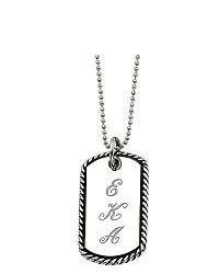 Steel By Design Stainless Steel Oxidized Engravable Pendant And24 Chain