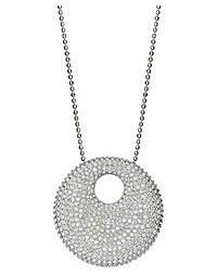 Swarovski Necklace Silver Tone Crystal Pendant Necklace