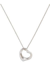 Tiffany & Co. Diamond Open Heart Pendant