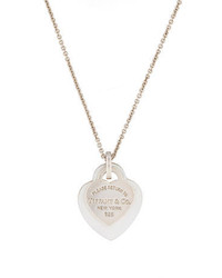 Tiffany & Co. Double Heart Tag Pendant Necklace