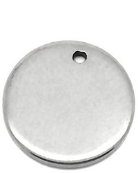 Valyria 50pcs Silver Tone Stainless Steel Blank Stamping Tags Round Charm Pendants 10mm