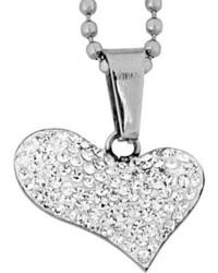 West Coast Jewelry Wcj P1247 C5 Silver Stainless Steelclear Pendants