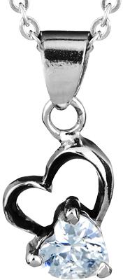 West Coast Jewelry Wcj P9124 Silver Stainless Steelcubic Zirconia Pendants