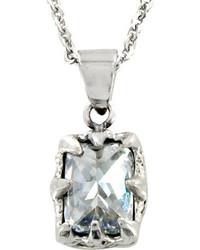 West Coast Jewelry Wcj P9125 Silver Stainless Steelcubic Zirconia Pendants