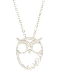 Nadri Wise Owl Pendant Necklace
