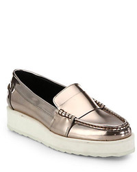 Silver platform loafers original 10001976