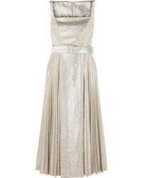 Emilia Wickstead Ingrid Pleated Metallic  Jersey Dress